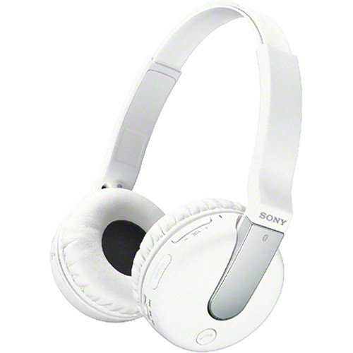 Sony Over the Ear Sound Isolating Enhanced Bass Wireless Bluetooth Headphones (White) by Sony