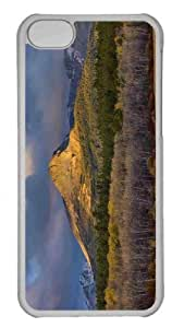 Customized iphone 5C PC Transparent Case - Dawn On The Rocky Mountain Front Ranges Of Glacier National Park Montana Personalized Cover