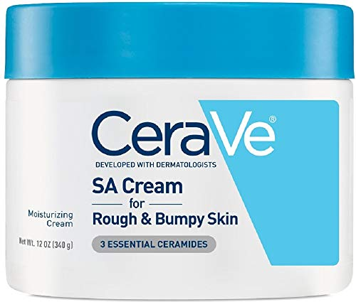 CeraVe SA Cream | 12 Ounce | Renewing Salicylic Acid Body Cream for Rough and Bumpy Skin | Fragrance Free (Best Way To Get Rid Of Eczema On Hands)