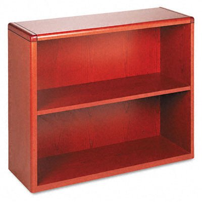 The HON COMPANY 2-Shelf Bookcase, 36 by 13-1/8 by 29-5/8-Inch, Henna Cherry