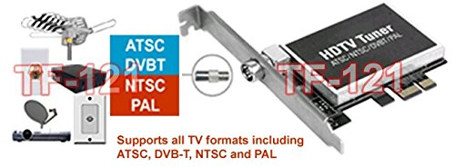 Hybrid Digital Analog ATSC DVB-T Clear-QAM NTSC PAL TV Tuner PCI Express Card For Desktop PC by AllAboutAdapters