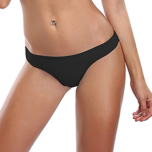MissTalk-Womens-Brazilian-Thong-Bikini-Cheeky-Bikini-Bottoms-G-String-SwimwearBlack-M