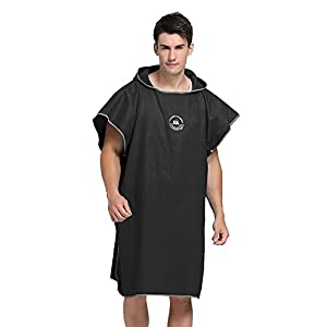 SHANNA Changing Robe Towel Hood Poncho for Surfing Swimming Wetsuit Changing,Compact & Quick Dry Beach Sunscreen Cloak…