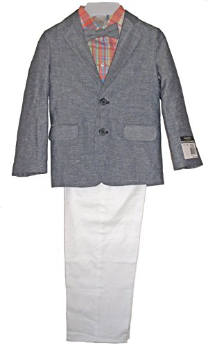 Nautica Little Boys' 4-Piece Linen-Twill Jacket, Shirt, Pants & Bowtie Size 6