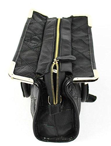 Longzibog Dual verstellbare Schultergurte und Hängeschlaufenband Mode Simple Style Fashion Tote Top Handle Schulter Umhängetasche Satchel Mehrfarbig 8qLUz7a555