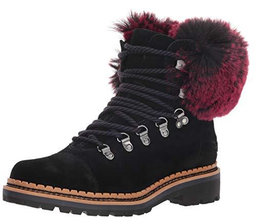 Sam Edelman Women's Bowen Fashion Boot, Black/Raspberry Wine, 9 M ()
