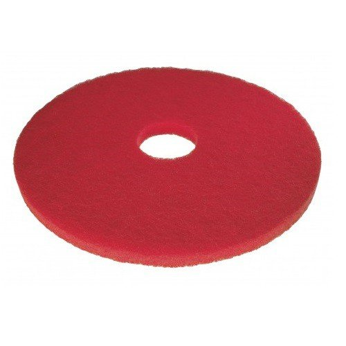 3M HG111-RD Floor Pad, 11' Diameter, Red (Pack of 5) 11 Diameter