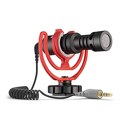 3.5mm TRS to TRRS Microphone Cable, Patch Adapter Cable, 1/8 Male to Male Coiled Right Angle Mic Cord Compatible iPhone, Smartphone, Tablets with Rode SC7, VideoMic, BOYA and More External Mic