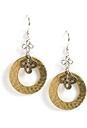 Jody Coyote Earrings QG012 Soistice Collection gold silver dangle