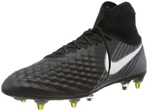 Nike Herren Magista Obra Ii Sg-Pro Anti Clog Fußballschuhe Schwarz (Black/White-Dark Grey-Stadium Green)