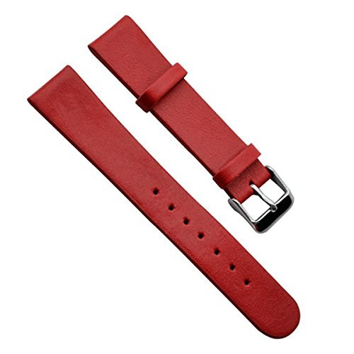 22mm-vintage-regular-replacement-genuine-leather-silver-buckle-watch-strap-watch-band-paint-edge-red