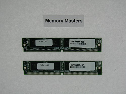 MEM4500-16F 16MB Approved 2x8MB Flash Memory Kit for Cisco 4500 Router (MemoryMasters)