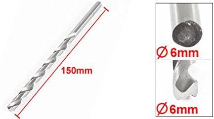 Silver Tone 6mm Cutting Dia 150mm Long Twist Drilling Drill Bit