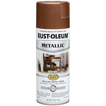 Rust-Oleum 248637 11-Ounce Metallic Finish Spray Paint, Vintage Copper