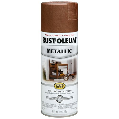 Rust-Oleum 248637 Stops Rust Metallic Spray Paint, 11-Ounce, Vintage Copper