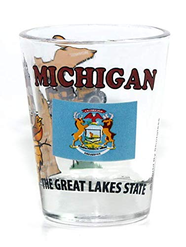 Michigan The Great Lakes State All-American Collection Shot Glass (Michigan Shot Glass)