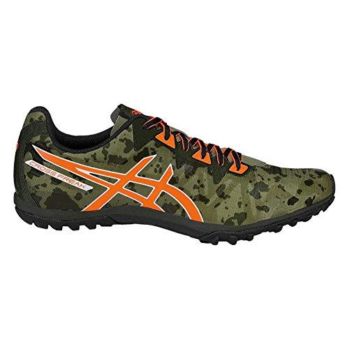 Quantum 2 Spike - ASICS Men's Freak 2 Cross-Country Running Shoe, Dusky Green/Hot Orange/Duffel Bag, 12 M US