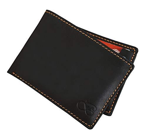 Baurdi Admiral Men's Full Grain Genuine Italian Leather Bifold Wallet Billfold (Black) - Wallet Italian Genuine Leather