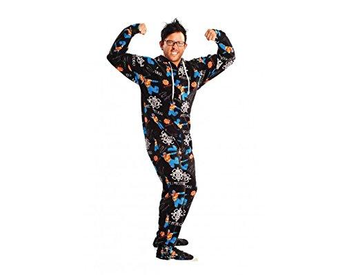 Jumpin Jammerz WWE Rey Mysterio Footed Pajamas (Medium) (Funny Onesie Adults)