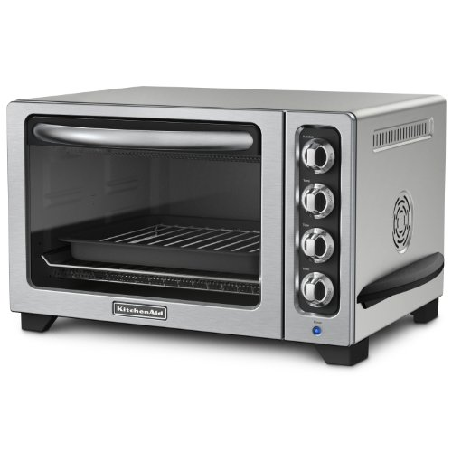 KitchenAid KCO223CU 12-Inch Convection Countertop Oven with Silver Handle, Contour Silver (Small Appliances Convention Ovens compare prices)