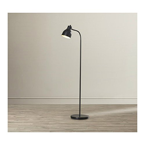 58-Inch Tall Simple & Classic Style Reading Task Floor Lamp with Bell Shade in Dark Bronze Finish - 58' Pendant