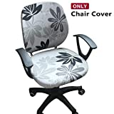 Jiyaru Rotating Armchair Slipcover Removable Stretch Computer Office Chair Cover (Only Cover)