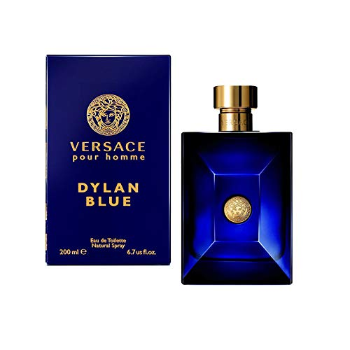 (VERSACE Dylan Blue Pour Homme Eau De Toilette Spray Box Sealed, 6.7 Ounce)