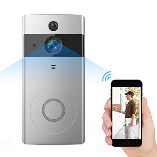 Antaivision Wire-free Video Doorbell Camera,PIR Motion Detection, Night Vision,Two Way Talking,Built-in 8G SD Card for iOS/Android Smartphone
