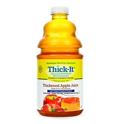 Thickened Beverage Thick-It AquaCareH2O 64 oz. Apple Ready to Use