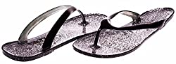 JouJou Ladies Thong Jelly Sandal Size 5 / 6 (Black) - (Multiple Colors and Sizes Available)