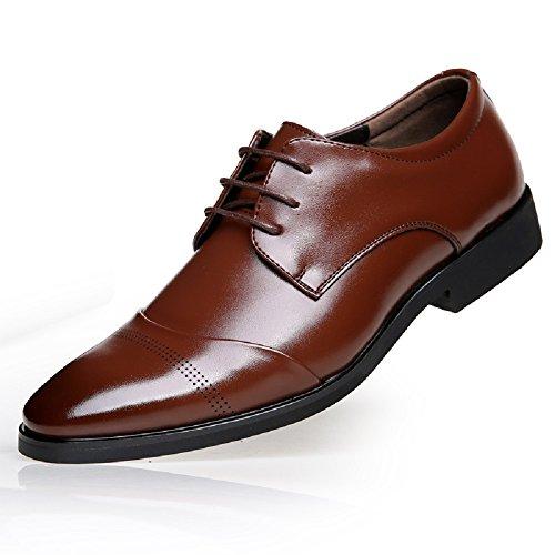 Braun Smoking Leder 47 37 Herren Schnürhalbschuhe Brogue Derby Schwarz Anzugschuhe Braun Business Hochzeit Lackleder Schuhe Lederschuhe Oxford YCZTZRaWv