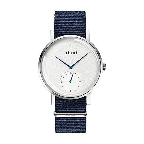abart ONE41-101-5N Nylon StrapBlue Sapphire Crystal Link Watch Smart Watch for (Genuine European Crystal)