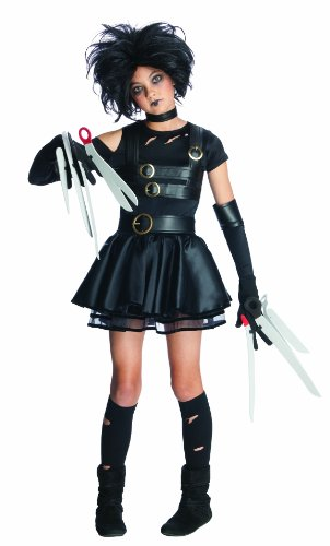 Edward Halloween Costume (Edward Scissorhands Miss Scissorhands Complete Costume Kit - Tween Small)