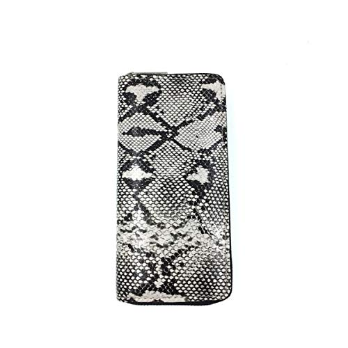 (Wallet - Faux Snake Skin Animal Print Long Zippered Clutch Your All-in-One Carry All (Snake Skin))