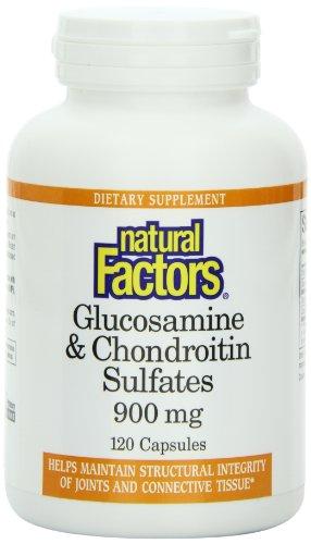 Natural Factors Glocosamine (500 mg) et de chondroïtine (400 mg), 120 capsules