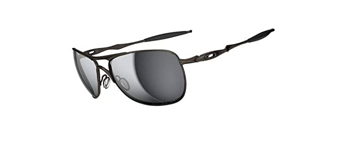 175f37e85a Oakley Mens Ti Crosshair OO6014-02 Polarized Oval Sunglasses,Pewter  Frame/Black Iridium
