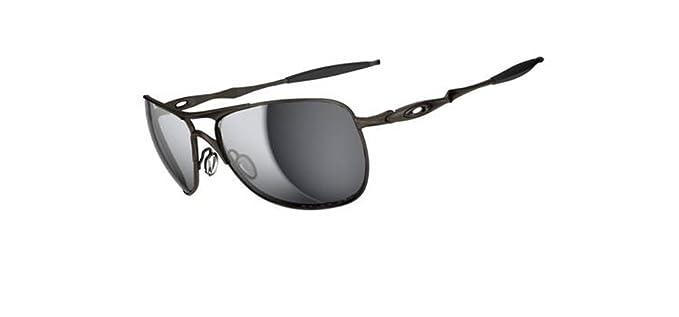d1328ab4ca5806 Oakley Mens Ti Crosshair OO6014-02 Polarized Oval Sunglasses,Pewter  Frame Black Iridium