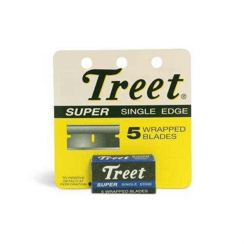 Treet Super Single Edge Wrapped Razor Blades 12 Pks of 5 in Each