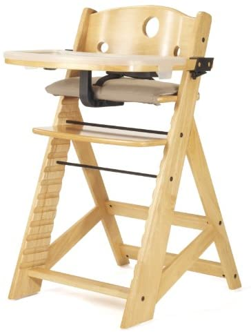 Keekaroo Height Right High Chair Height Right High Chair with Tray, Natural
