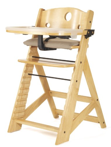 Keekaroo Height Right High Chair with Tray, Natural (Chairs Height)