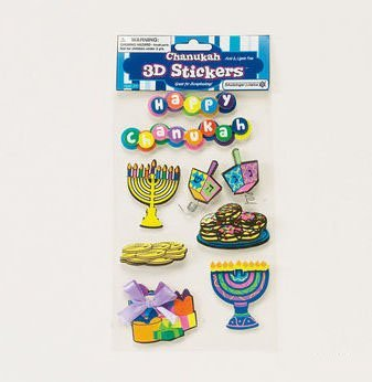 Rite Lite TY-14348 3-D Chanukah Stickers ()