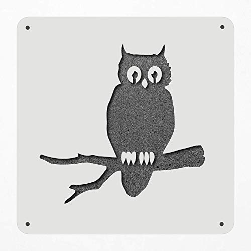 Stencil Large 12 Inch Owl Branch Halloween Scarry Plastic Mylar Stencil Painting, Walls, Crafts, Signs, Item 1321766