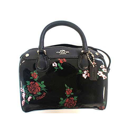 MICRO MINI BENNETT SATCHEL WITH CROSS STITCH FLORAL PRINT