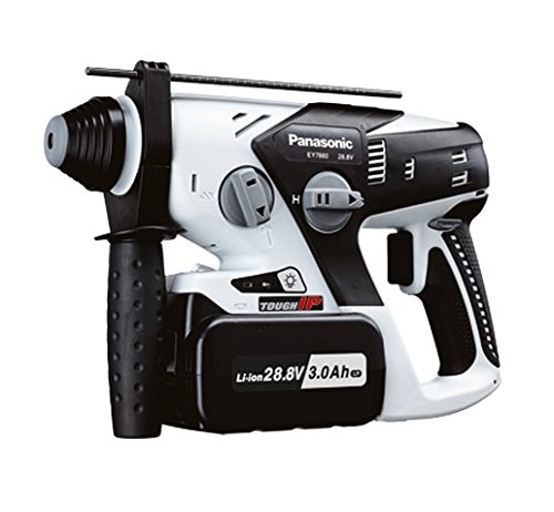 "Panasonic Power Tools EY7880LP2S Cordless Hammer Kit, SDS-Plus Rotary w/28.8V 3.0Ah Li-ion Type Z Battery Packs & Charger - 3/4"" Bit System"