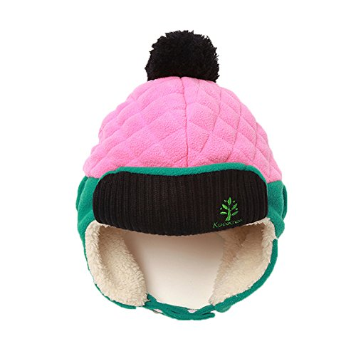 Leories Kids Winter Hat Trapper Trooper Hat Windproof Warm Camouflage Mask Ear Flaps Outdoor Sports Walking Skiing Hunting Hat Pink