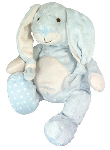 Stephan Baby Ultra Soft and Huggable Plush Knotty Bumpy Bunny, Blue, 8
