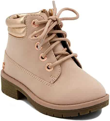 216e15791c68 Nautica Kids Girls Zabra Boot Lace Up Chukka Hiking Work Ankle Bootie  (Toddler Little