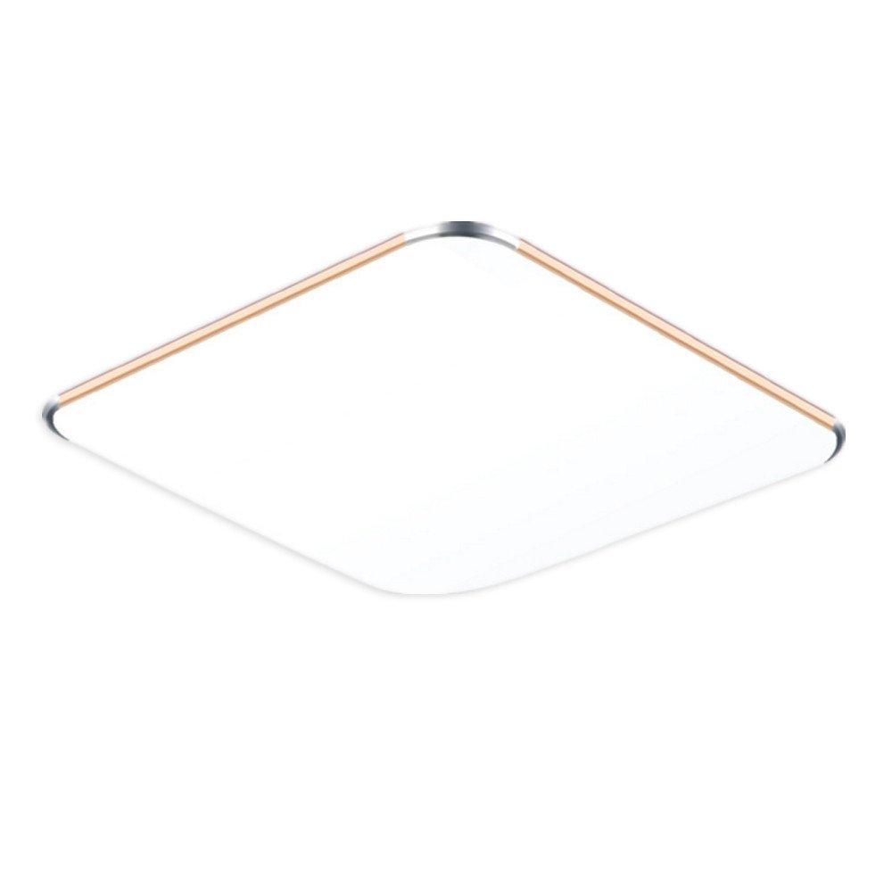 MCTECH 36W LED plafonnier Ultraslim moderne plafonnier couloir salon lampe chambre Cuisine d'économie d'énergie mur de lumière lumière couleur argent Dimmable [Classe énergétique A++]