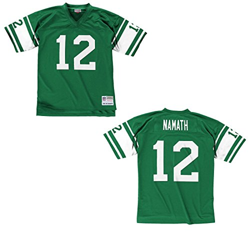 York New Jets Jersey (New York Jets Mitchell & Ness 1968 Joe Namath #12 Replica Throwback Jersey (L))