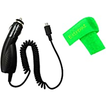 Car Charger Adaptor Micro USB For LG Cosmos 3 VN251S LG Cosmos 2 VN251 + Extreme Band (Car Charger)